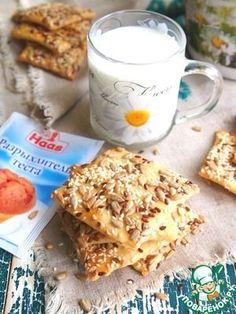 Домашнее галетное печенье с семечками Источник: http://www.povarenok.ru/recipes/show/146811/