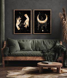 Dark Home Decor, Goth Home Decor, Aesthetic Bedroom, My New Room, Living Room Decor, Gothic Living Rooms, Decoration, Room Inspiration, Decorating Your Home