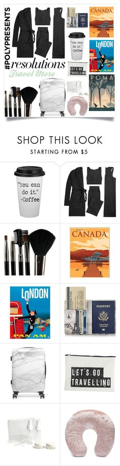 """""""#PolyPresents: New Year's Resolutions"""" by jespolk ❤ liked on Polyvore featuring Skin, Glamour Status, CalPak, House Doctor, Forever 21, contestentry and polyPresents"""