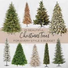 Beautiful Christmas trees for every style and budget, from flocked to traditional and tabletop to unique. 25 amazing choices here! have collected several different styles of artificial trees that I use from year to year. Today I'm sharing my take on the best Christmas trees for every style and budget.