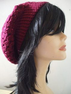 My Pretty Crochet Beret Slouchy Tam Hat Winter by everything2for32, $16.00