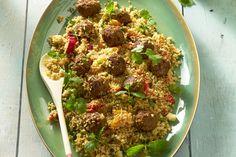 rijstgerecht - rundergehakt, couscous, ... - Verwarm de oven voor op 180 °C.