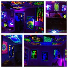 Hippy black light room