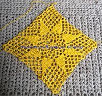 Tina's handicraft : Dress beach Joining Crochet Squares, Ribbon Design, Irish Lace, Beach Dresses, Dress Beach, Crochet For Kids, Crochet Stitches, Cross Stitch Embroidery, Crochet Bikini