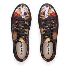 Adrian flower print sneakers #AcneStudios #menswear #SS14