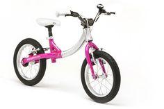 This sparkling pink LittleBig balance bike converts into a pedal bike for kids. Pink Bike, Balance Bike, Tricycle, Sparkle, Kids, Young Children, Boys, Children, Boy Babies