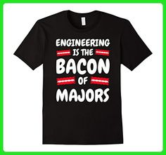 Mens Shirt Engineer Clothes Engineer Shirts Funny Bacon of Majors 2XL Black - Food and drink shirts (*Amazon Partner-Link)
