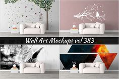 Wall Mockup - Sticker Mockup Vol 383 by Creative Interiors on @creativemarket