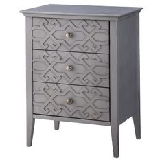 I NEED THIS - $72 after sale Target.com (ALSO comes in Yellow or Teal)  Threshold™ Fretwork Accent Table