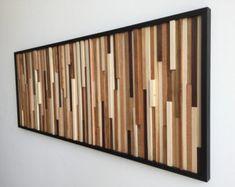 Wood Wall Art  Wood Art Sculpture  Reclaimed Wood by WallWooden