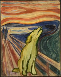 """lol... rather then """"The Scream"""" by Edvard Munch... you have """"The Howl"""""""
