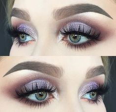 eyeshadow looks easy makeup revolution makeup eyeshadow quad eyeshadow makeup expire makeup price to do glitter eyeshadow makeup makeup geek makeup 2020 Purple Makeup, Purple Eyeshadow, Glam Makeup, Pretty Makeup, Beautiful Eye Makeup, Skin Makeup, Makeup Inspo, Eyeshadow Makeup, Makeup Inspiration