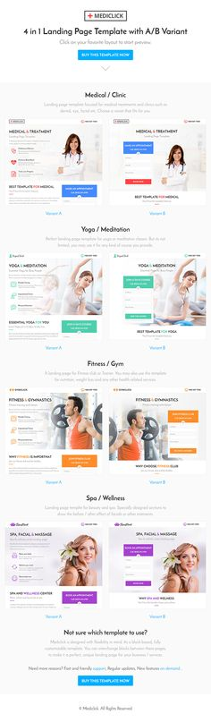 Mediclick – Medical Landing Page WordPress Theme