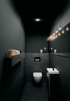 45 Artistic Small Toilet Concepts and Designs #bathroom #creative #designs #ideas #small