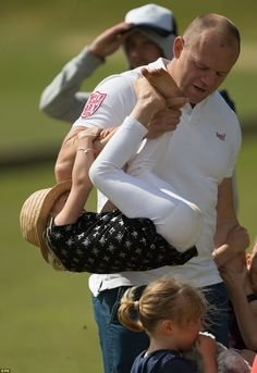Mike Tindall playfully lifts up Isla Phillips while the sun shines in Tetbury during the Maserati Royal Charity Polo Trophy Princess Anne, Royal Princess, The Queens Children, Peter Phillips, Mike Tindall, Polo Match, Polo Club, Queen Elizabeth Ii, British Royals