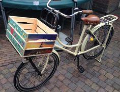 vrolijke fietskrat