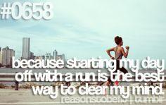 I love running in the morning!