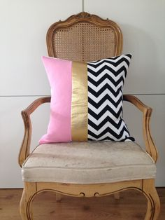 Pink Chevron Pillow  https://www.etsy.com/listing/187346469/decorative-throw-pillow-cover-20x20?ref=shop_home_active_9