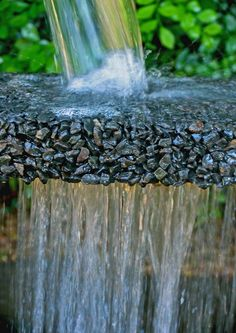 Porous paver, the water just drains straight through. Rain Garden, Water Garden, Goldfish Pond, Landscaping Retaining Walls, Driveway Ideas, Backyard Projects, Pavement, Water Features, Curb Appeal