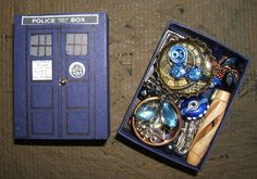TARDIS Matchbox - mildly pic heavy - PAPER CRAFTS, SCRAPBOOKING & ATCs (ARTIST TRADING CARDS)