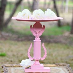 pink recycled trophy candle holder