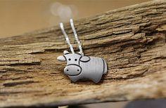 Handmade Silver Ox Pendant, Silver 990 Lovely Ox Pendant, Anniversary, Birthday, Christmas, Gift #bestofEtsy #etsymnt