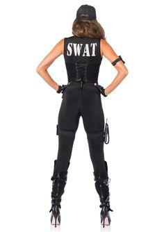 Buy Sexy SWAT Police Costume Deluxe SWAT Commander Halloween Party Costume Cosplay at online store Swat Team Costume, Swat Halloween Costume, Sexy Cop Costume, Team Costumes, Halloween Kostüm, Prisoner Halloween, Couple Costumes, Diy Costumes, Catsuit Costume