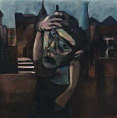 Hombre en una calle oscura (Charles Blackman, 1952) Venimos a este mundo con grandes aspiraciones pero tardamos poco en darnos cuenta de que no tenemos el control