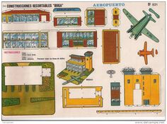 (CR0007) AEROPUERTO Nº521 CONSTRUCCIONES RECORTABLES BOGA AÑOS 1970 - Delcampe.net