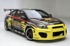 Tanner Foust's Scion tC, powered by TRD's NASCAR V8