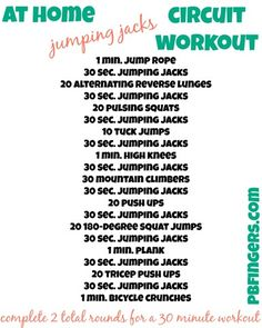 At Home Workout --  A 30 minute workout you can do at home with NO EQUIPMENT!