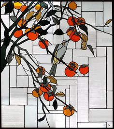 "Japanese-style stained glass ""persimmon"""