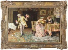 Francis Sydney Muschamp Large Antique Fine Oil Painting Interior Figures Genre Genre, Sydney, Painting, Antiques, Art, Antiquities, Art Background, Antique, Painting Art