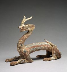 "4th century Chinese  |  Dragons were placed in a tomb, providing a means to get to heaven. Ceramic dragons were also modeled in times of drought: ""When the dragon appears, then wind and rain arise to escort him."""