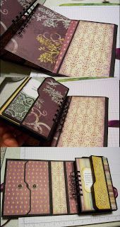 album uses 1 6x6 paper pad (24sheets) or a full Club Scrap Deluxe/Sr kit,.  Also uses Bind It All/Cinch and Envelope Punch Board
