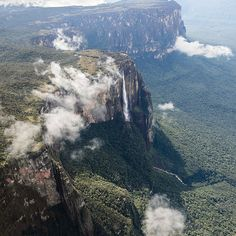 "26 Real Places That Look Like They've Been Taken Out Of Fairy Tales - Angel Falls, Venezuela, inspired ""UP"""