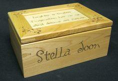 Custom Laser Engraved Maple Keepsake Box by UrbanTimberWoodworks, $33.00