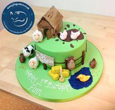 Farm Yard Cake, made by The Foxy Cake Co!