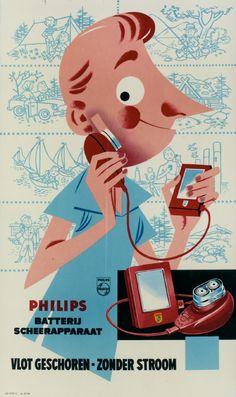 Philishave, reclameposter, 1956
