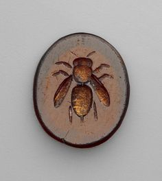 ≗ The Bee's Reverie ≗ Roman, carved intaglio gemstone with bee, 1st-3rd century.