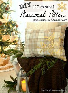 DIY Placemat pillow tutorial