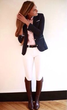 Love this outfit! Love this outfit! Love this outfit! Love this outfit! Equestrian Outfits, Equestrian Style, Equestrian Fashion, Outfit Elegantes, Look Fashion, Womens Fashion, Preppy Fashion, Preppy Girl Outfits, Feminine Fashion
