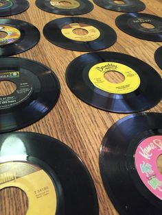 "Vinyl Record Collection - Used 10 Bulk Vinyl Records Lot 7"" 45RPM for Arts, Crafts and Decoration by VinylShopUS on Etsy"