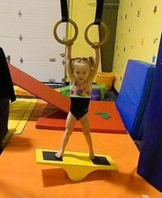 She's ready to learn gymnastics!!