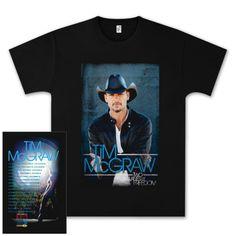 Picks of Tim McGraw on t shirts   ... McGraw • TOUR MERCH • Tim McGraw Two Lanes of Freedom Tour T-shirt