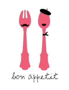 Items similar to Bon Appetit - Print - Digital Illustration Poster - Kitchen Art - French Art - French Inspired - Him and Her - Couple on Etsy Silhouette Cameo, Silhouette Projects, Silhouette Images, Art And Illustration, Bon Appetit, Food Design, Food Quotes, Cooking Quotes, French Quotes