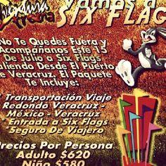 Buen inicio de semana, recuerden que este fin de semana salimos a Six Flags http://www.turismoenveracruz.mx/2012/07/vamos-a-six-flags-este-15-de-julio-de-2012/