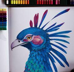 Instagram media by zuzka.hanova - My next #wildsavannah :-) #milliemarotta #coloring #coloringbook #adultcoloringbook #adultcoloring #pencils #fabercastell #polychromos #divokasavana #draw #drawing