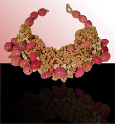 Deep-pink Ammandras: For maximum impact wear this necklace will lend an exotic edge to every look. Exotic, Crochet Necklace, Deep, Pink, How To Wear, Jewelry, Crochet Collar, Jewellery Making, Jewlery