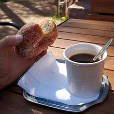 Donuts with cardamom and coffee! Tampere, Finland - They are famous, I hear, the donuts. I Love Coffee, Coffee Art, Best Coffee, My Coffee, Finnish Recipes, Grandma's House, Coffee Shops, Helsinki, The Fresh